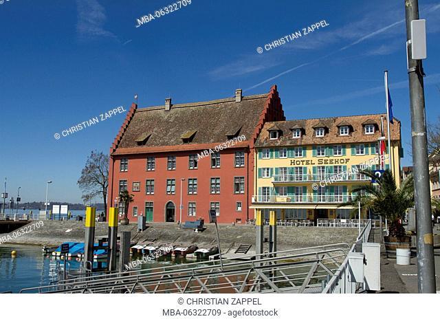 Waterfront Meersburg at Lake Constance, Meersburg, Germany