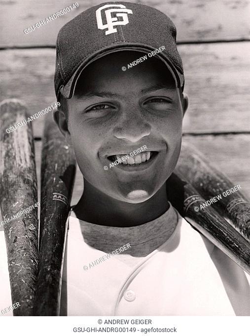 baseball, player, cap