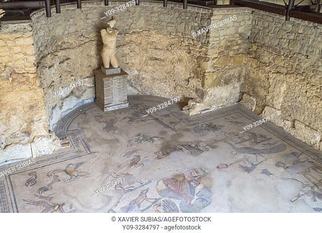 Diaeta of Orpheus, Villa Romana del Casale, Piazza Armerina, Sicily, Italy