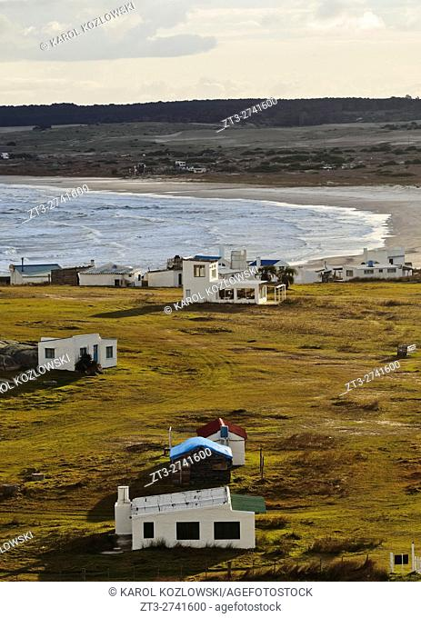 Uruguay, Rocha Department, Elevated view of the Cabo Polonio