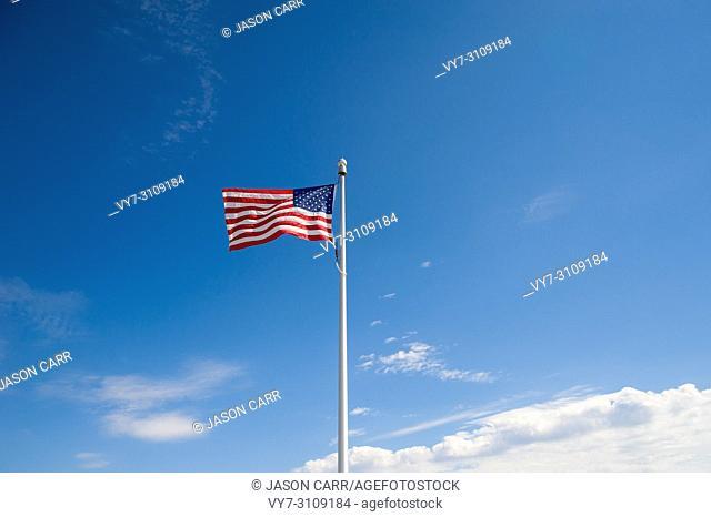 American Flag waving . USA
