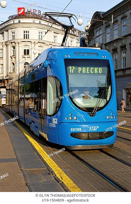 Tram in Zagreb, Croatia