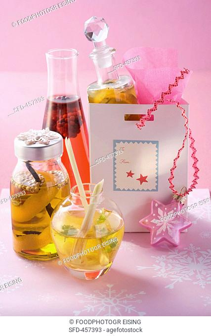 Home-made oil and vinegar as a gift
