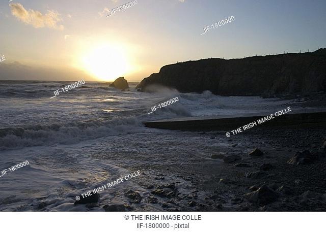 Stormy Seas, Knockmahon, Copper Coast, Co Waterford, Ireland