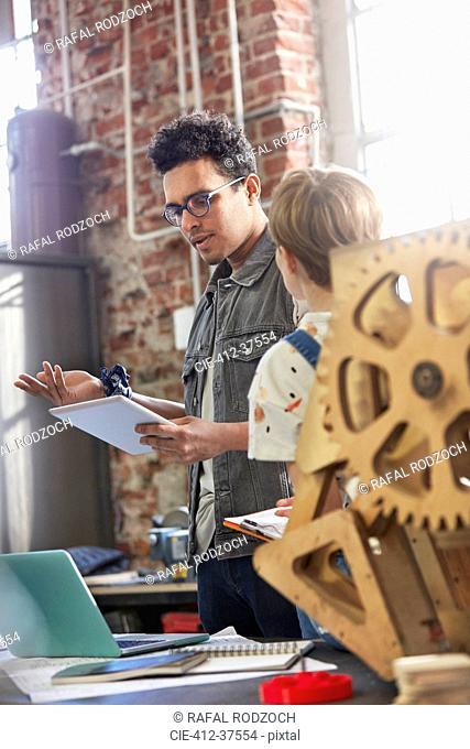 Designers meeting, brainstorming in workshop