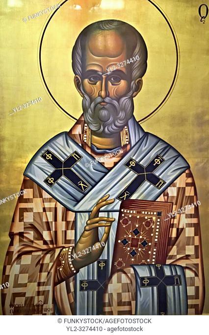 Icons in the 4th century AD Church of Saint Demetrius, or Hagios Demetrios, Άγιος ΔημήτÏ. ιος, a Palaeochristian and Byzantine Monuments of...