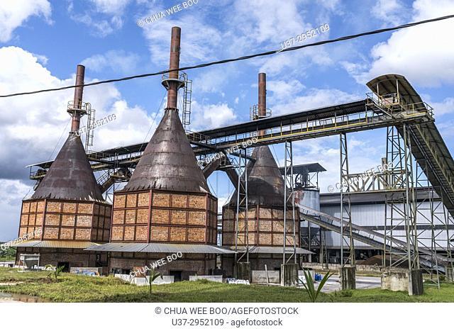 Oil palm factory in Kampung Endap, Sarawak, Malaysia