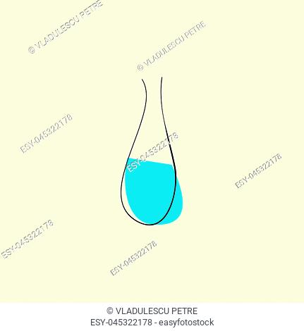 normal vase with water on beige background