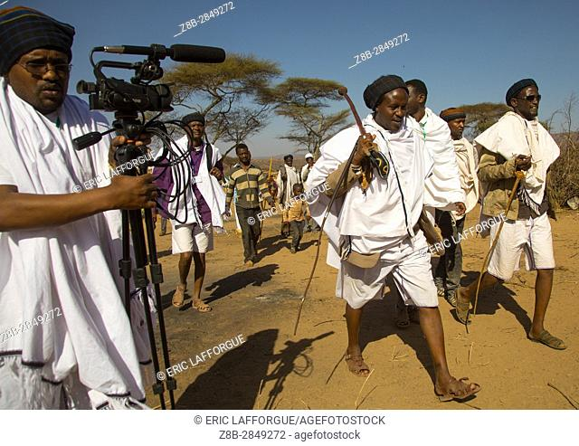 Kura Jarso the 71st Borana Oromo Abba gadaa and his councilors, Oromia, Yabelo, Ethiopia