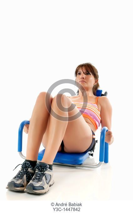 Fitness woman doing abs training