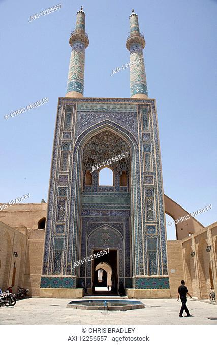 Entrance Iwan of Friday Mosque (Masjid-e Jame); Yazd, Iran