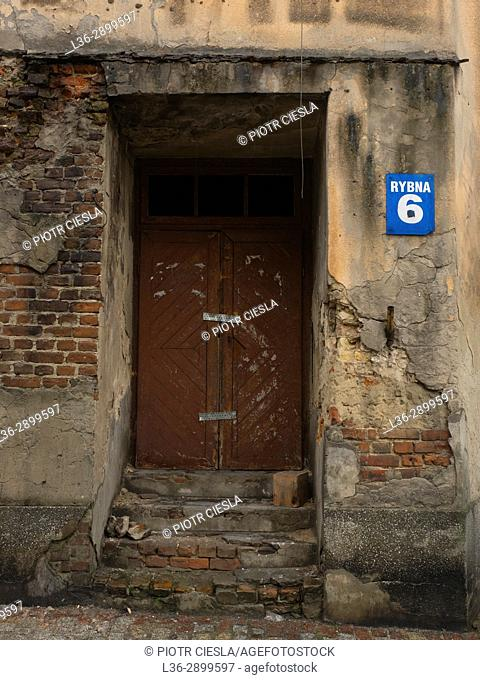 Poland. Lublin - the Old Town. House wauting for reconstruction