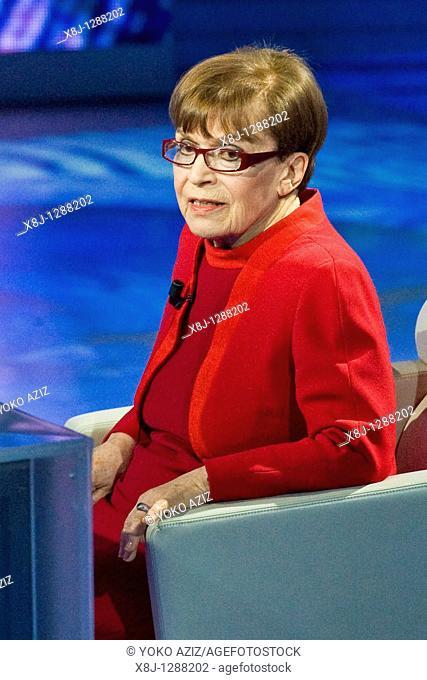18 12 2010, Milan, 'Che tempo che fa' telecast  RAI 3 Franca Valeri