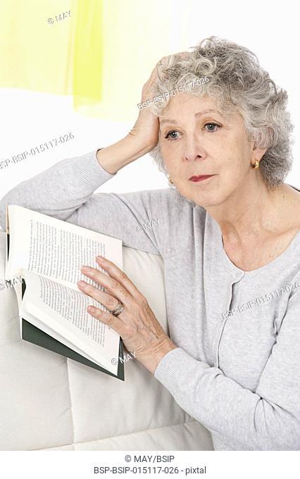 Thoughtful senior woman