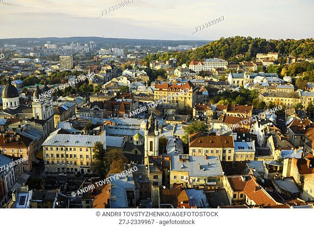 view of the old city of Lviv. Ukraine