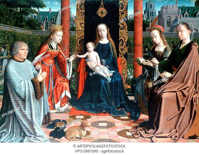 Gerard David. The Mystic Marriage of St Catherine. 1510. National Gallery London