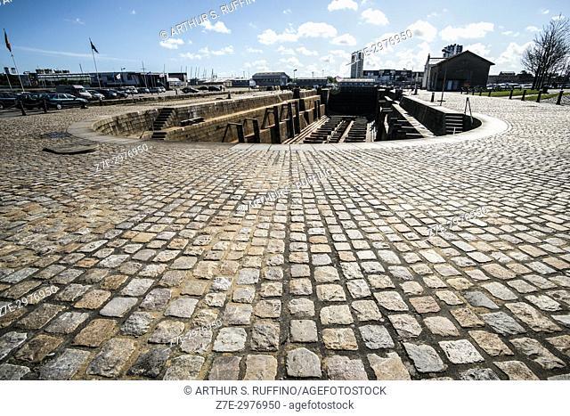 Shipyard, Cherbourg Port, Cherbourg-Octeville. Manche Department, Normandy, France, Europe