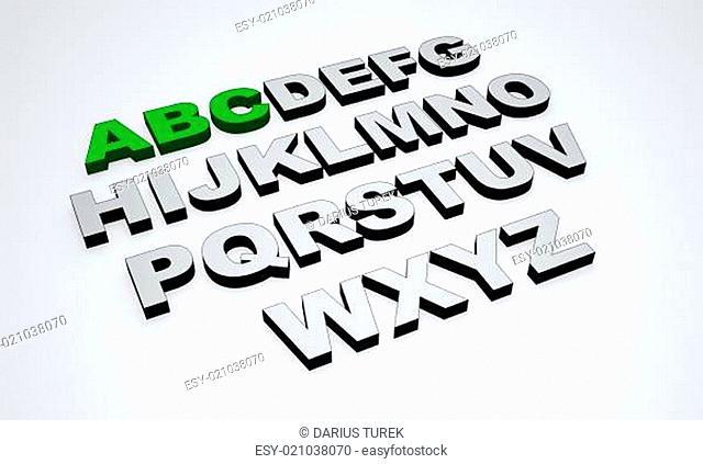 ABC - Grün Grau
