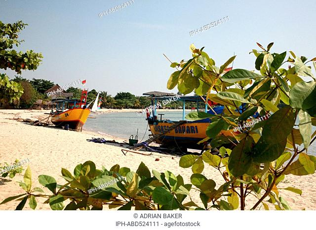 Indonesia Central Java Jepara Boats on Bandengan Beach