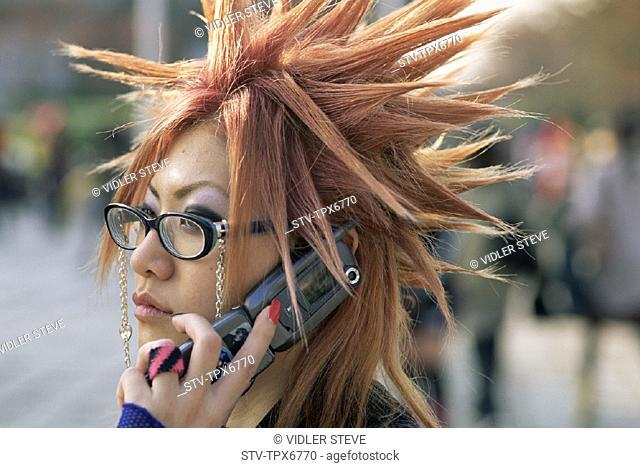 Asia, Culture, Girl, Harajuku, Holiday, Japan, Landmark, Mobile phone, Modern, Teenage, Teenager, Tokyo, Tourism, Travel, Vacati