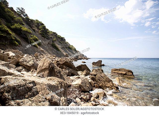 Virgin beach, Parque Natural Sa Dragonera, Majorca, Balearic Islands, Spain