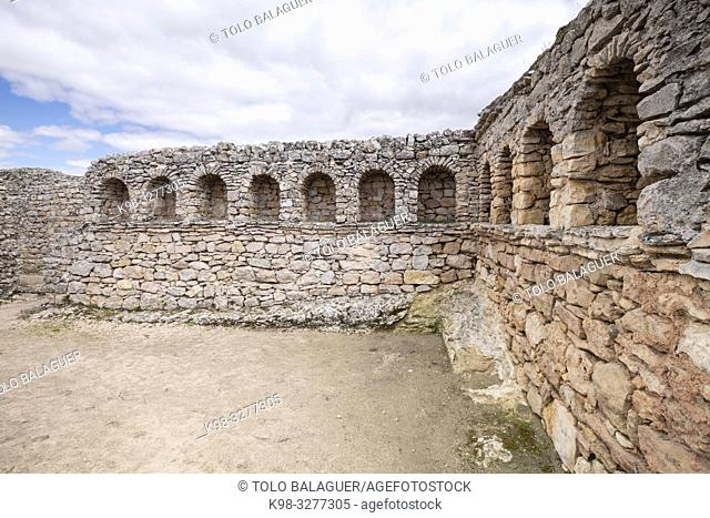 termas del teatro, parque arqueológico de Segóbriga, Saelices, Cuenca, Castilla-La Mancha, Spain