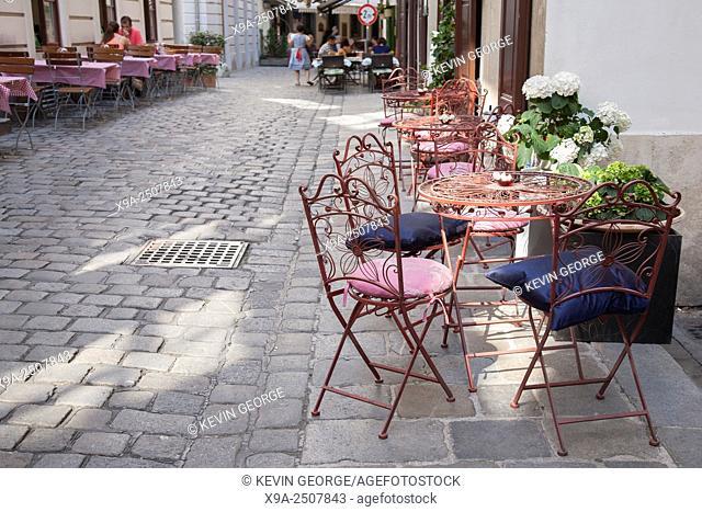 Restaurant, Ballgasse Street, Vienna, Austria
