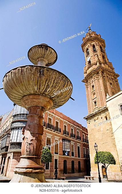 St. Sebastian's collegiate church, Antequera. Malaga province, Andalucia, Spain