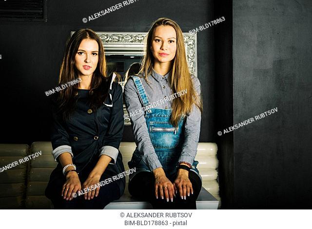 Women sitting on table in restaurant