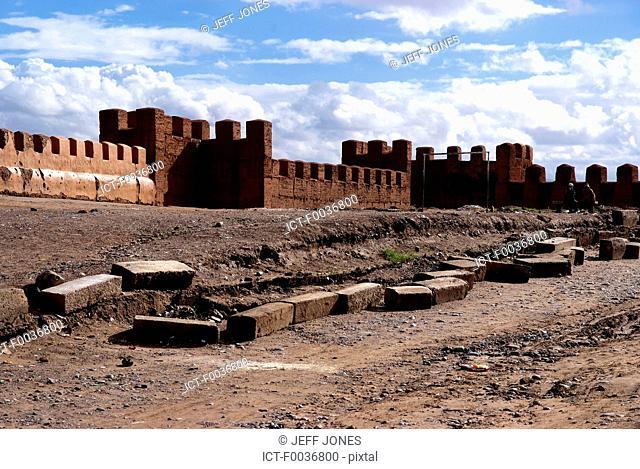 Morocco, ramparts of Taroudant