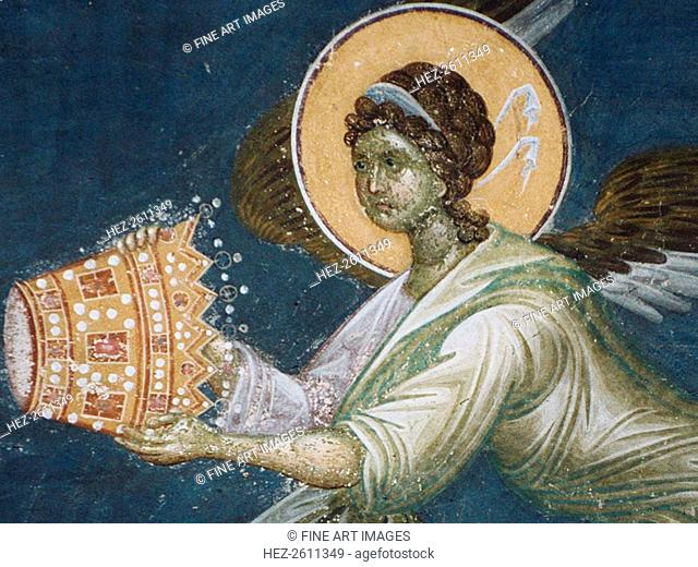 Angel with the crown, 1321-1322. Artist: Anonymous