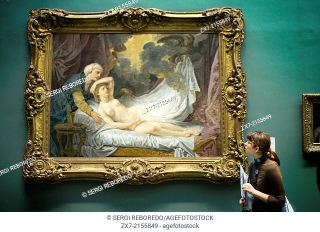 Metropolitan Museum of Art. Paint of Aegina Visited by Jupiter Jean-Baptiste Greuze French, Tournus 1725–1805 Paris. The young woman may be Aegina