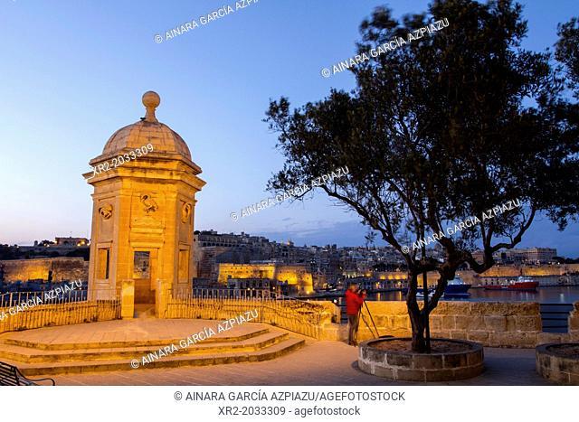 Blue hour in the Gardjola of Senglea, Malta