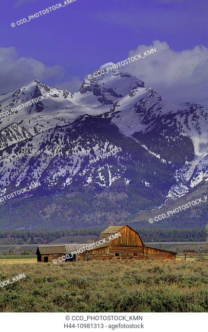 Rocky Mountains in autumn in Wyoming