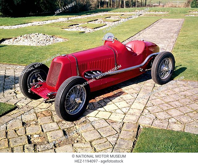 1933 Maserati 4CM-2000 racing car. This was the works car driven by Giuseppe Campari in 1933, which made its debut in the Coppa Ciano race of that year