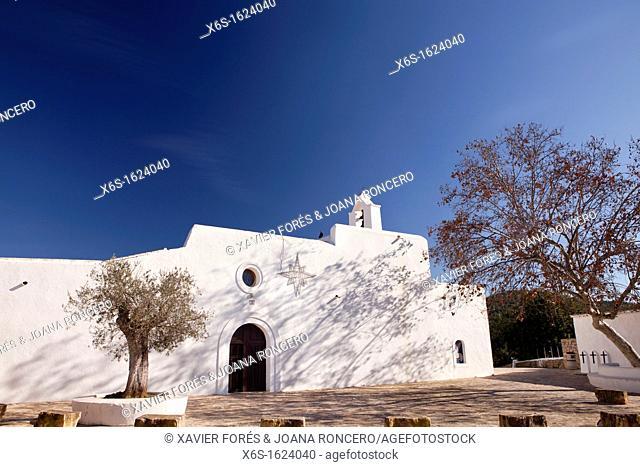 Church in Santa Agnès de Corona, Ibiza, Illes Balears, Spain