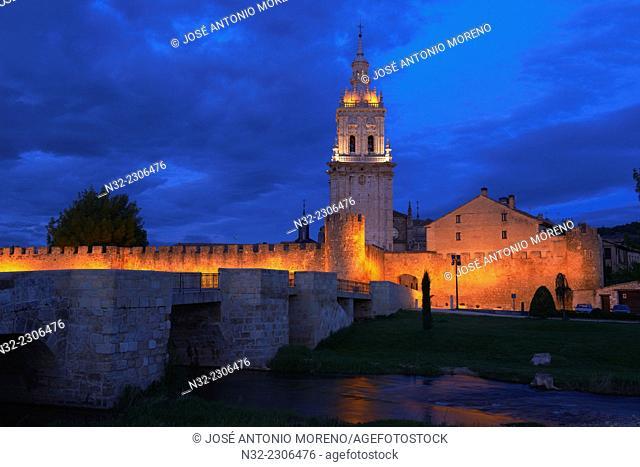 El Burgo de Osma, Ciudad de osma, Cathedral Bell Tower, City Walls, Soria province, Castilla Leon, Spain