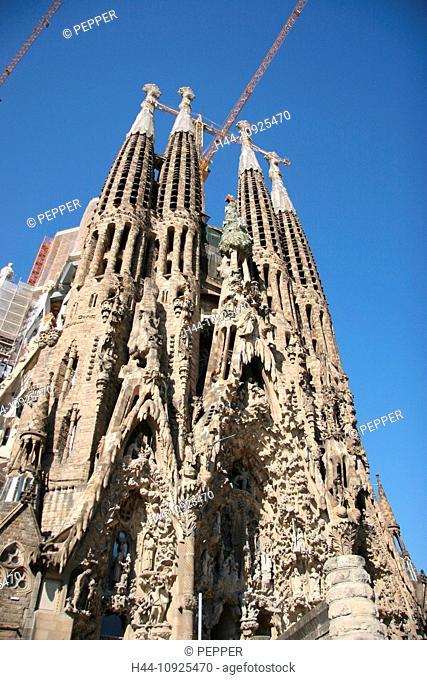 Spain, Barcelona, architecture, Sagrada Familia, basilica, Antoni Gaudi, Gaudi, church, landmark