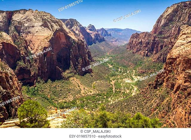 Beautiful aerial views from Zion National Park
