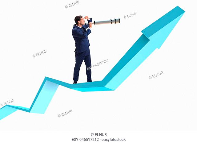 Businessman in financial planning business concept