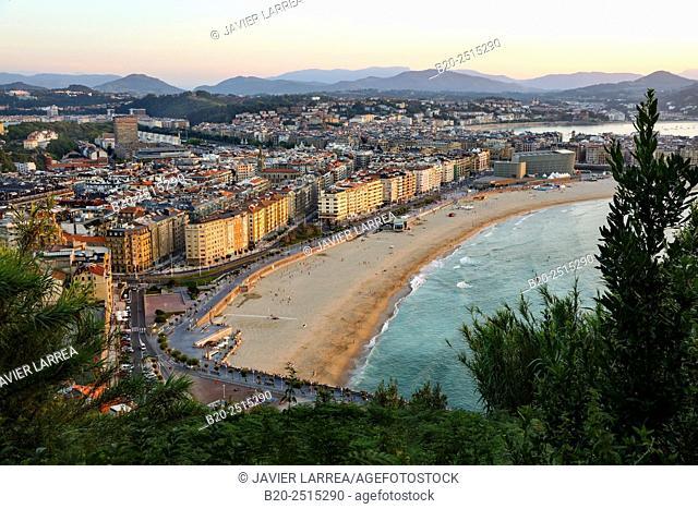 La Zurriola beach. Donostia. San Sebastian. Gipuzkoa. Basque Country. Spain