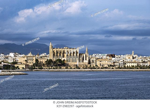 La Seu, Palma Cathedral, Palma de Majorca, Balearic Islands, Spain