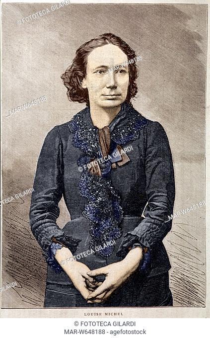 Louise MICHEL (1830-1905) proudhoniana e blanquista aderì alla Prima Internazionale. Deportata 7 anni per aver preso parte alla Comune