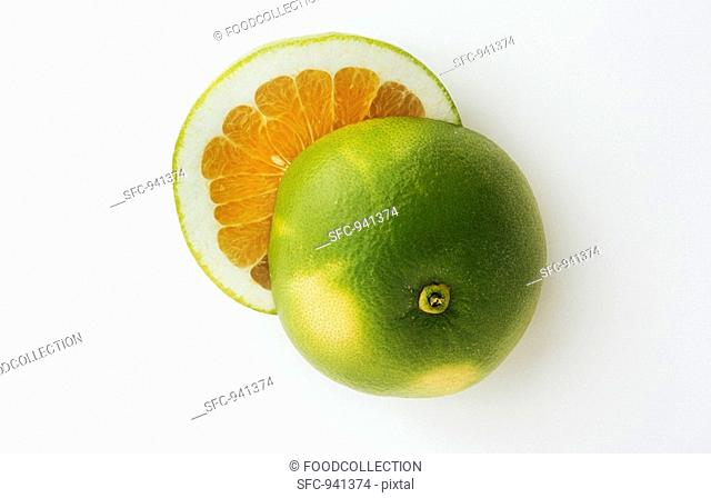 Halved Oro Blanco Fruit
