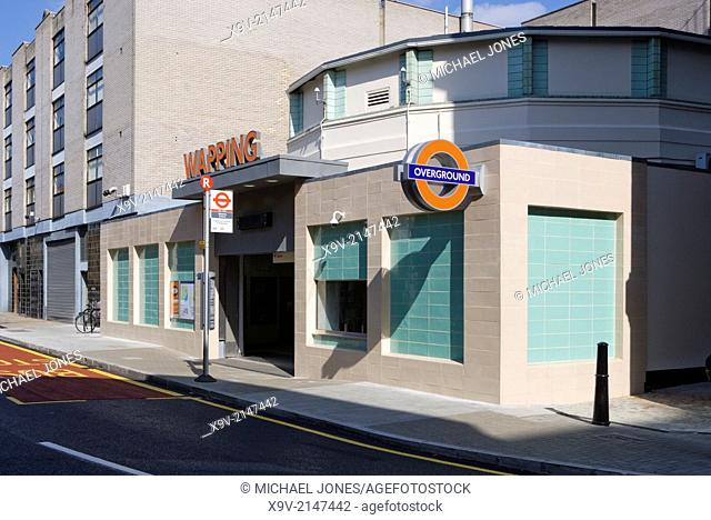 Wapping Station, London Overground Railway, London