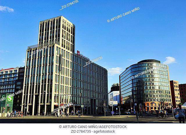Contemporary buildings in Potsdamer Platz. Berlin, Germany
