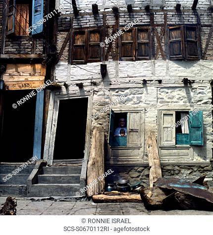 Leaning door in Srinagar Kashmir India