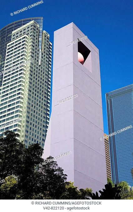 Bell Tower in Pershing Square, Downtown Los Angeles, California, USA