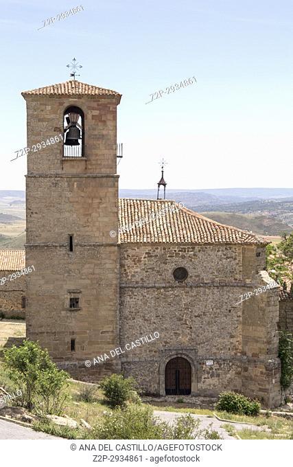 Trinity church Atienza village in Guadalajara, province, Castilla-La Mancha,. Spain