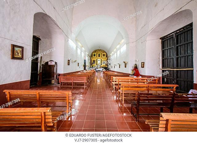 Interior of the Church of Chumayel, Yucatan (Mexico)